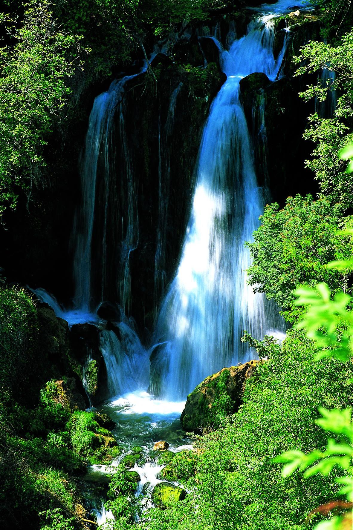 Grotte di Stiffe - La cascata